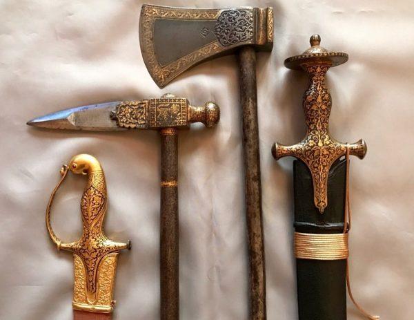 Traditional Wooden battle Axe